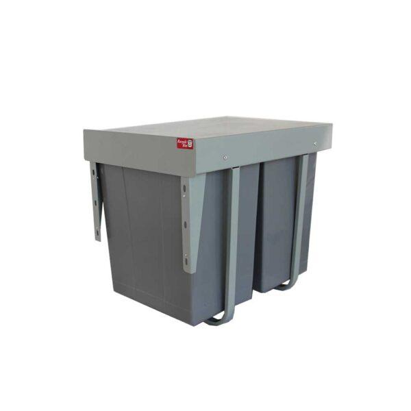 سطل زباله دوقلو بزرگ نصب در