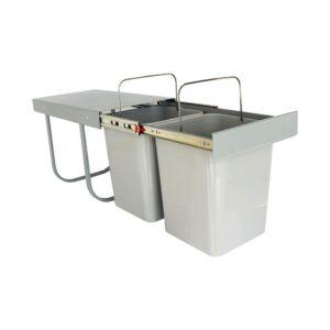 سطل زباله دو مخزنه متوسط 18 ليتري