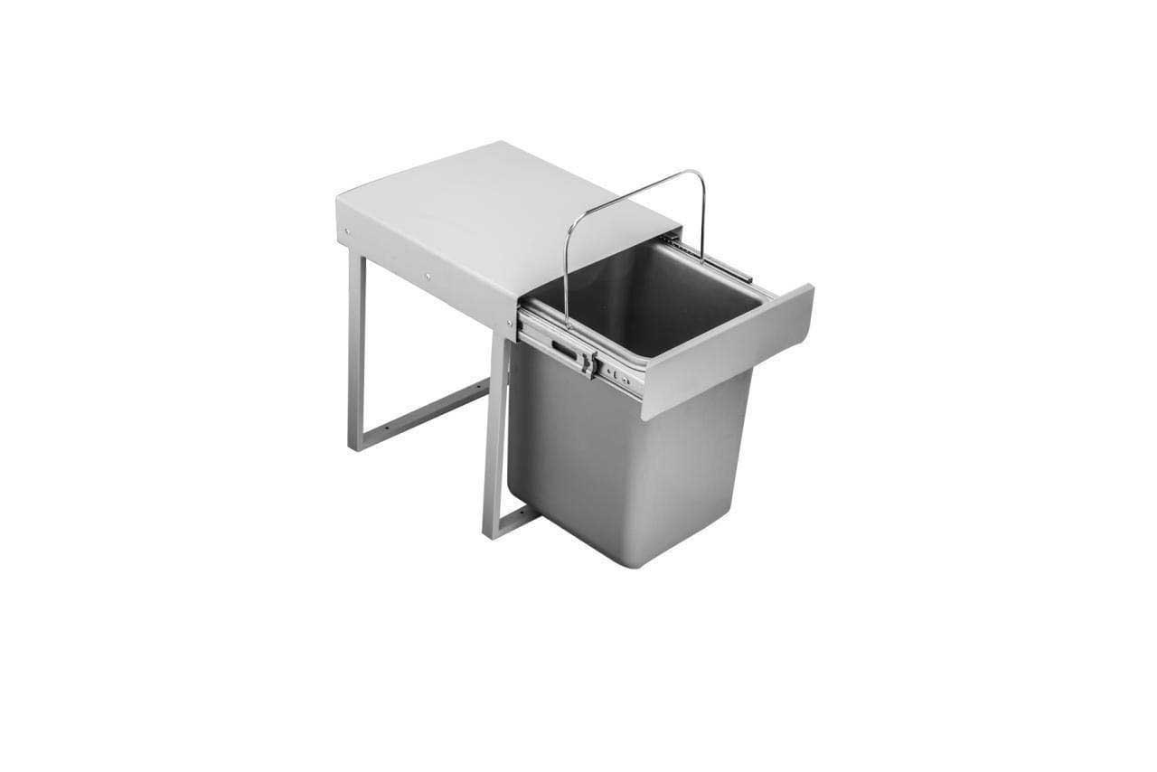 سطل زباله ریلی داخل کابینتی تک قلو 12 لیتری