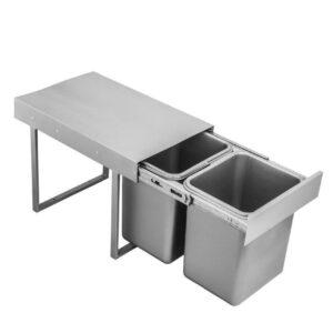 سطل زباله ریلی داخل کابینتی دو قلو 12 لیتری